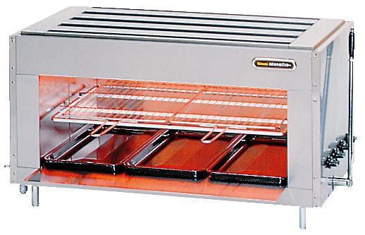 リンナイ ガス赤外線グリラー (上火式) リンナイ大型グリラー シュバンクバーナー R-6438 都市ガス(13A)仕様