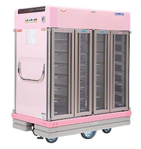 マルゼン 温冷配膳車 フラットトレイ仕様(手動式) NFRW-E2-28-M W1300×D770×H1533 スタンダードタイプ