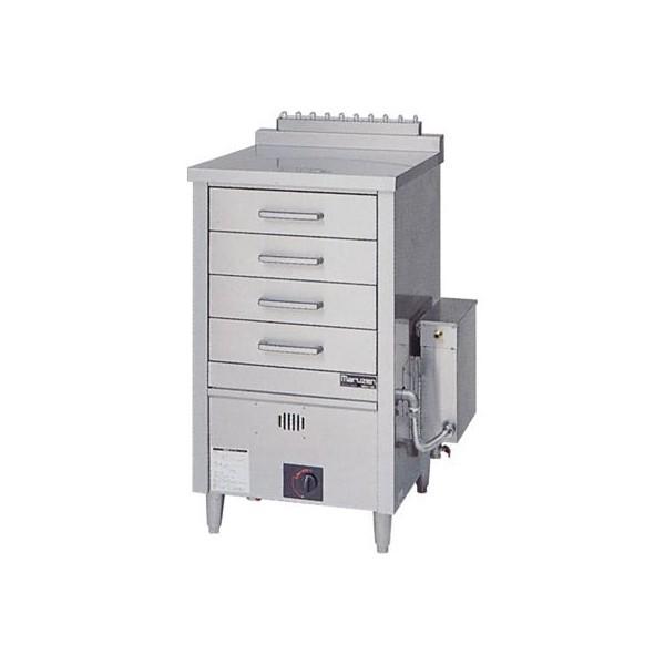 マルゼン ガス蒸し器 ドロワータイプ 樹脂レール仕様 1槽式 引出4個 MUD-J14CNU LPガス(プロパン)仕様仕様 W750・D750・H1115(50)mm 軟水器付
