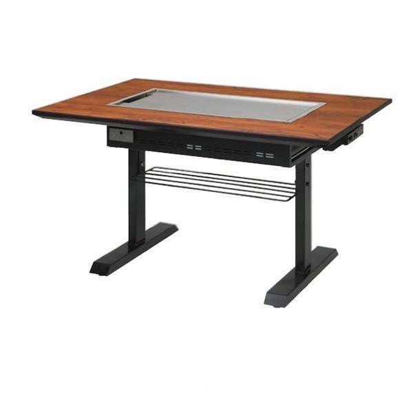 イトキン IKK お好み焼きテーブル S型 スチール脚(ガス式P) PM 1200F-SA 4人掛け 都市ガス(13A)仕様 1200・800・700(mm)