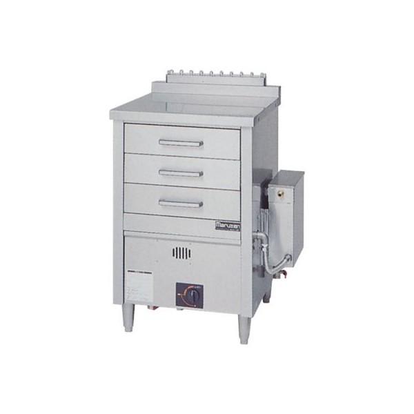マルゼン ガス蒸し器 ドロワータイプ 樹脂レール仕様 1槽式 引出し3個 MUD-J13CNU LPガス(プロパン)仕様 W750・D750・H985(50)mm 軟水器付