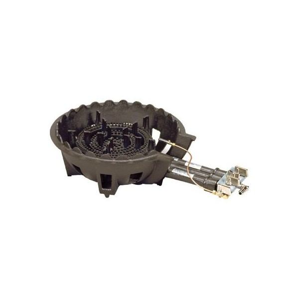 タチバナ 鋳物ガスコンロ TS-518P バーナー・下枠セット 種火付 三重コンロ 穴明タイプ 都市ガス(13A)仕様