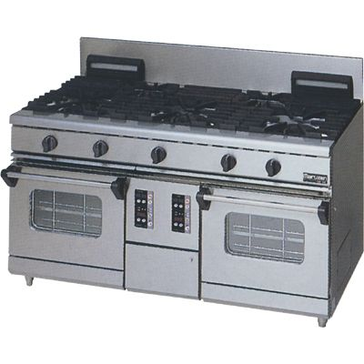 マルゼン NEWパワークックガステーブル(コンベクションオーブン搭載) RGR-1575WXC (RGR-1575WXB) LPガス仕様 W1500・D750・H800・B200mm