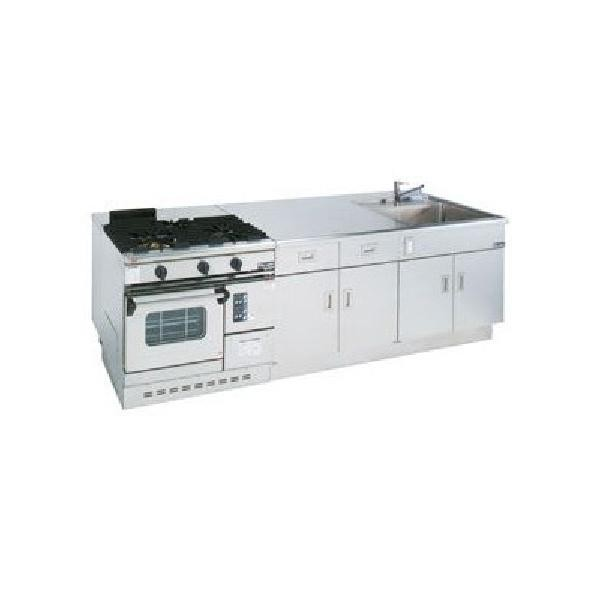 マルゼン 調理実習台 MJW-T279 LPガス仕様 W2700×D900×H850 教師用