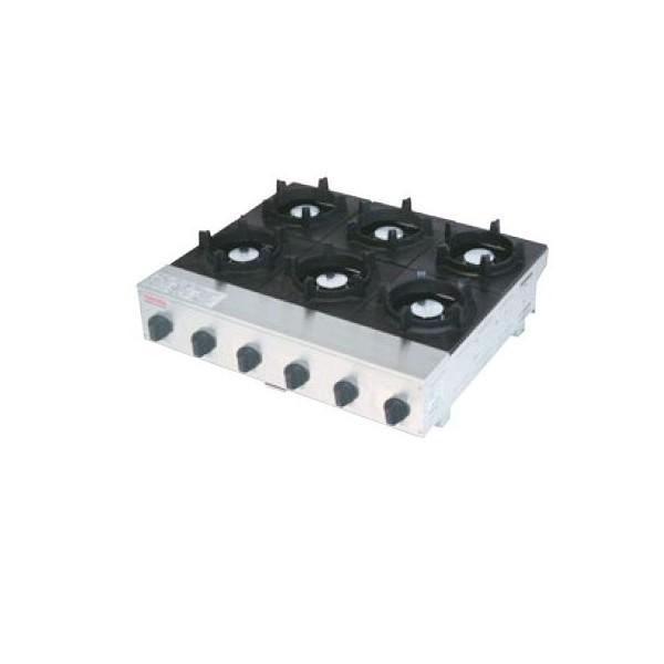 山岡金属 石焼きビビンバ専用コンロ ビビンバガッツ6(6口) SPK-576 660×600×H206 LPガス仕様