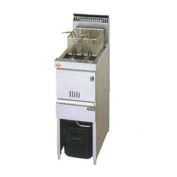 マルゼン 涼厨ガスフライヤー ファーストフード用 MGF-C13FK (MGF-C13FJ) 都市ガス(13A)仕様 W330・D600・H800mm