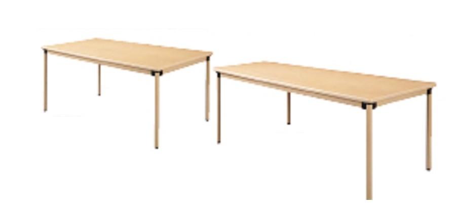井上金庫 テーブル UFT-KA0909 ナチュラル木目 4本固定脚 W900×D900×H700(mm) 介護・福祉施設向け