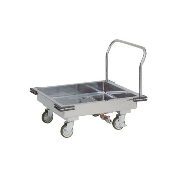 マルゼン 厨房用ワゴン(ドライシステム仕様) ドライL型運搬車 MWDL-097 W900×D750×H825