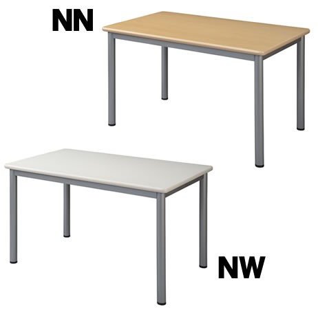 井上金庫 4本脚テーブル TL-1290 ネオナチュラル W1200×D900×H700(mm) 介護・福祉施設向け