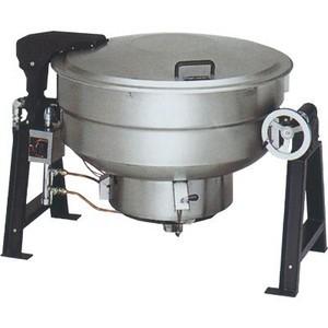 マルゼン ガス回転釜 LPガス仕様 鋳鉄タイプ 自動点火式 釜底排水付 MKGD-TH190 190L W1645×D1132×H880