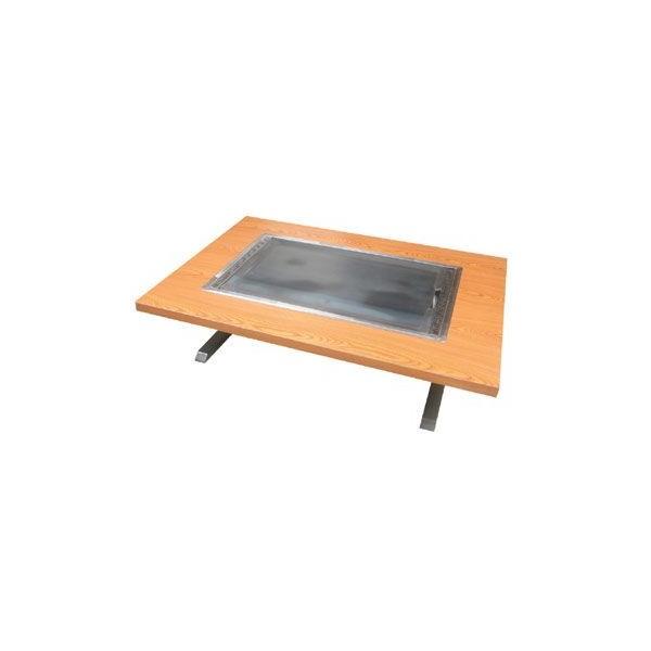 イトキン IKK お好み焼きテーブル(スチール脚) 座卓仕様 IM-480P 都市ガス(13A)仕様 800・750・330(mm)