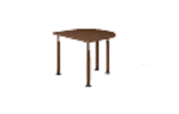 井上金庫 テーブル UFT-9080HA DB ダークブラウン木目 Aタイプ 4本固定脚 W900×D800~796(mm) 介護・福祉施設向け