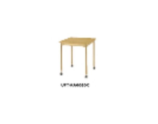井上金庫 テーブル UFT-KA6060C ナチュラル木目 4本キャスター脚 W600×D600×H700(mm) 介護・福祉施設向け