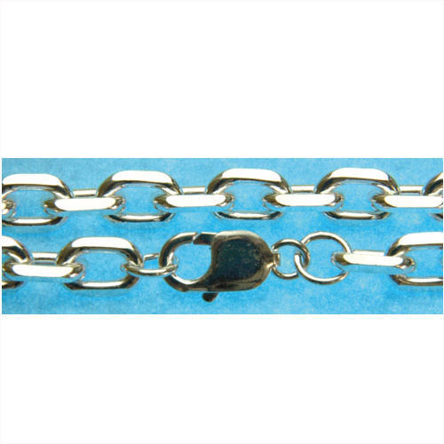 高品質!シルバー925ネックレスチェーン あずき4面カット 幅約8.1mm(線径2.5mm) 50cm・60cm・70cm/メッキ/コーティング/シルバー/チェーン/鎖/銀/小豆/SV925/ゴールド/ピンクゴールド/ブラック/いぶし