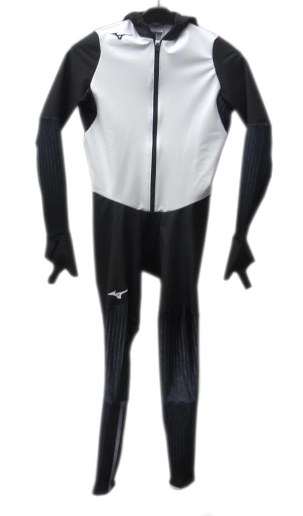 mizuno(ミズノ) スピードスケートワンピース (70)ホワイト×ブラック Z2JH8101