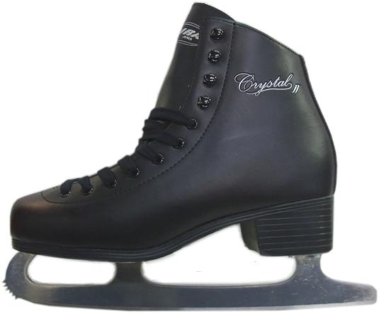 【初回研磨無料】ZAIRAS(ザイラス) フィギュアスケート靴 クリスタル2 CRYSTAL FIGURE SKATES F-120(F-130) メンズ ブラック(黒)(UP_SK)