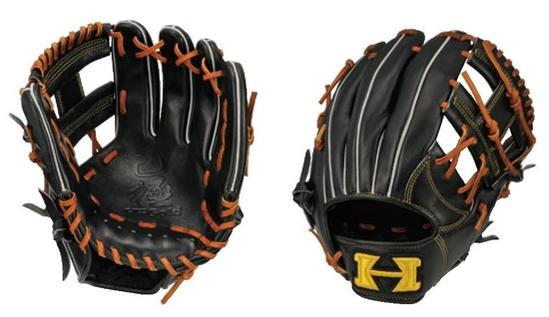 HI-GOLD(ハイゴールド) 一般軟式用グラブ 己極 二塁手・遊撃手用 右投げ用 ブラック×タン OKG-6816 (軟式グローブ)