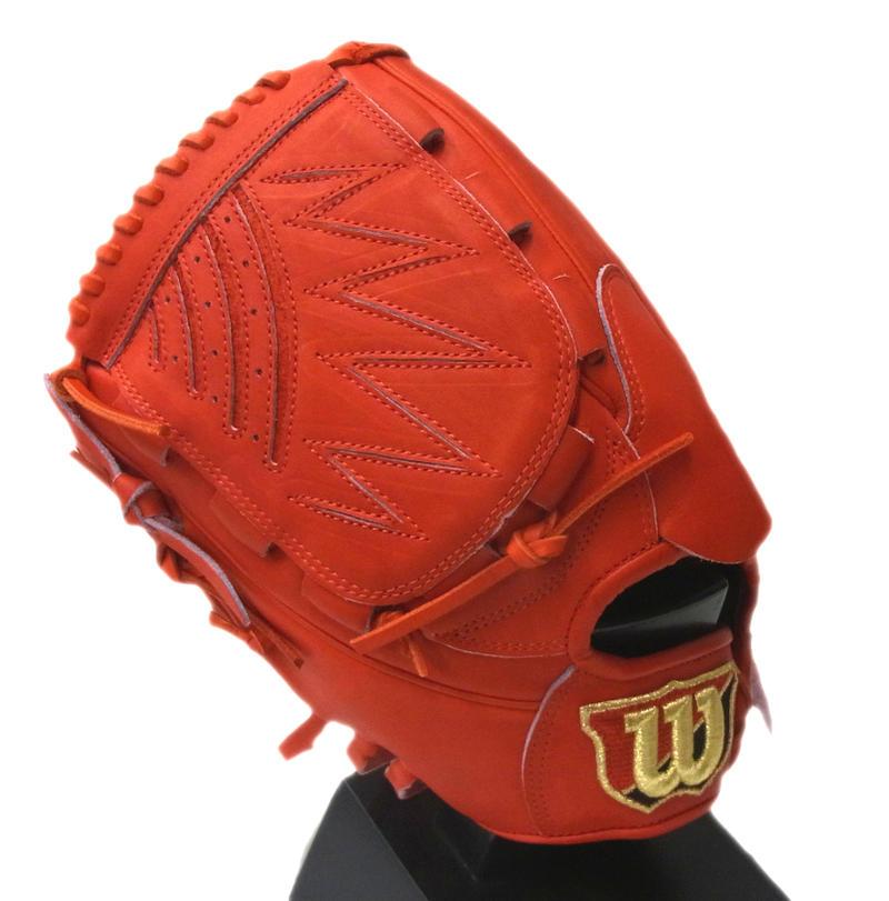 【左投げ用】Wilson(ウイルソン) 一般軟式グラブ ウイルソンスタッフ DUAL 投手用 (D1型) (22)Eオレンジ WTARWSD1B
