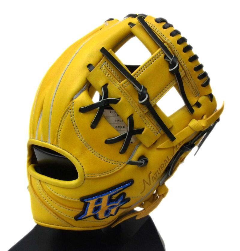 【限定商品】HI-GOLD(ハイゴールド) 一般軟式用グラブ 己極 二塁手・遊撃手用 右投げ用 ナチュラル OKG-824SP (軟式グローブ)