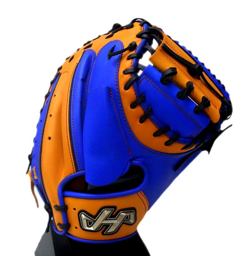 【限定商品】 HATAKEYAMA(ハタケヤマ) 一般軟式キャッチャーミット 捕手用 右投げ用 Aバック (C)ブルー×オレンジ PRO-288