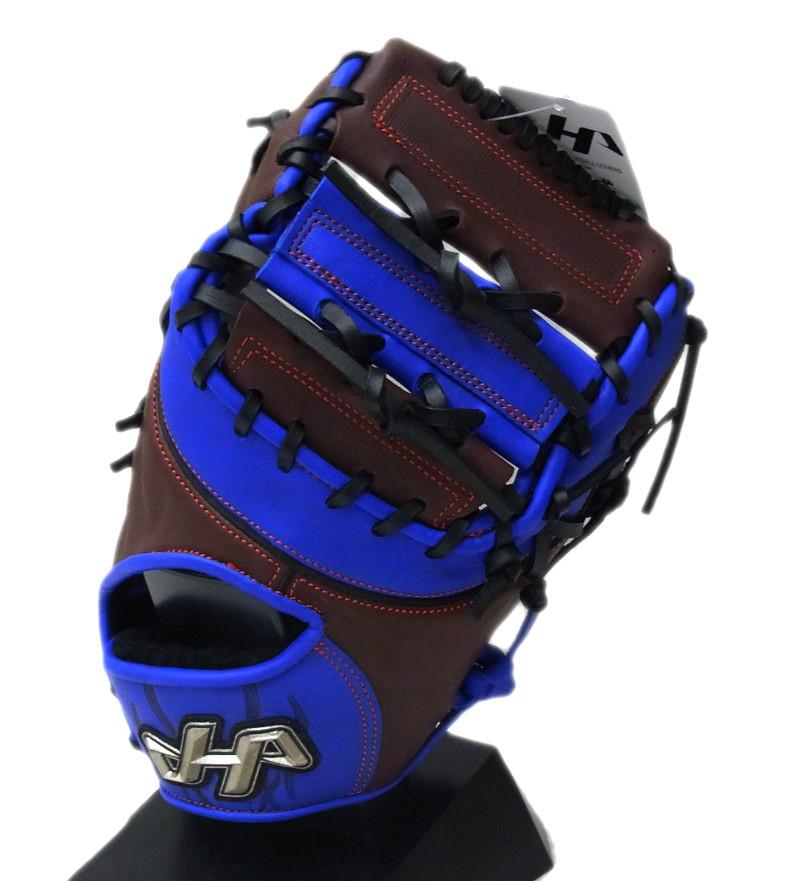 【限定商品】 hatakeyama(ハタケヤマ) 軟式用ファーストミット 一塁手用 右投げ用 (G)Tブラウン×ブルー PRO-381
