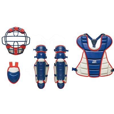 ZETT(ゼット) 少年軟式キャッチャー防具4点セット (2913)ネイビー/シルバー BL717A [野球/キャッチャー防具]