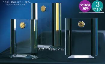 【送料無料】クリスタルブロンズ(20.5cm)★文字彫刻無料★選べるコイン★