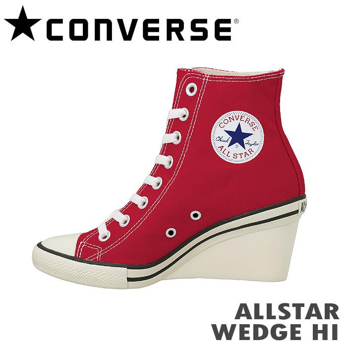 コンバース スニーカー ALL STAR WEDGE HI オールスター ウェッジハイカット レッドW9IHED2