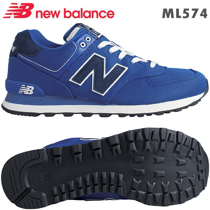 ニューバランス スニーカー ML574 ブルー POB 靴幅 D クラシックライフスタイルlcKT1FJ3