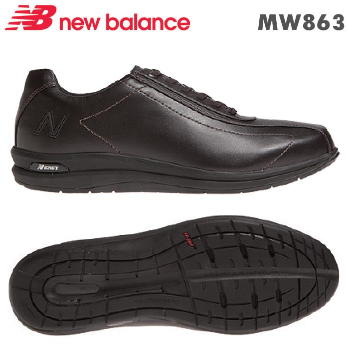 ニューバランス スニーカー MW863 ブラウン BR2 靴幅:2E/4E 男性用ウォーキングシューズ