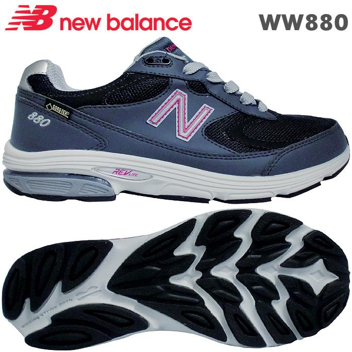 エントリーでポイント10倍ニューバランス スニーカー WW880 ネイビー/ピンク GN2 靴幅:2E/4E 女性用ウォーキングシューズ【ラッキーシール対応】