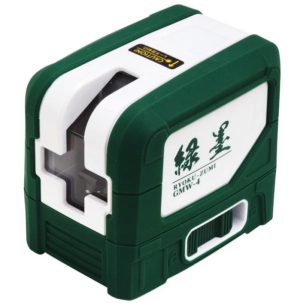 持ち運び便利なコンパクトサイズ 送料無料 沖縄 『1年保証』 離島除く 代引不可 新潟精機 L GMW-4 緑墨 レーザー墨出し器 グリーンレーザー 美品