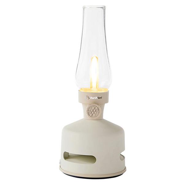 (送料無料(一部地域除く)・代引不可)MoriMori LEDランタン Bluetoothスピーカー FLS-1704-WH BEACH HOUSE(ホワイト色) (送料区分L)