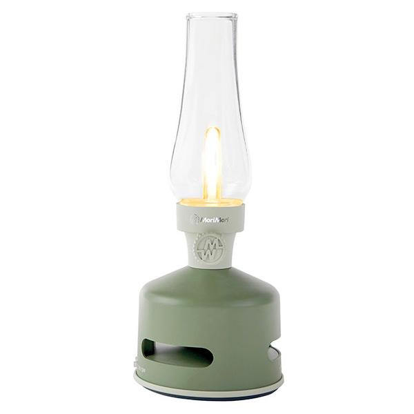 (送料無料(一部地域除く)・代引不可)MoriMori LEDランタン Bluetoothスピーカー FLS-1705-GR HOUSE GARDEN(グリーン色) (送料区分L)