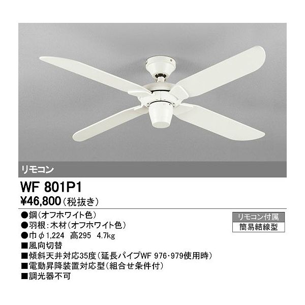 (代引不可)オーデリック WF801P1 シーリングファン (E)