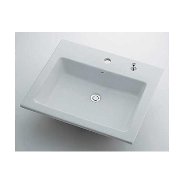 【1着でも送料無料】 (L):プロショップシミズ (送料無料(一部地域除く)・)カクダイ 角型洗面器 1ホール・ポップアップ独立つまみタイプ 493-008H-木材・建築資材・設備