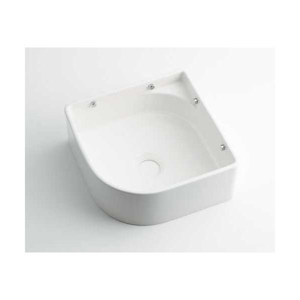 (送料無料(一部地域除く)・代引不可)カクダイ 美濃焼 壁掛手洗器 ホワイト 493-048-W (L)