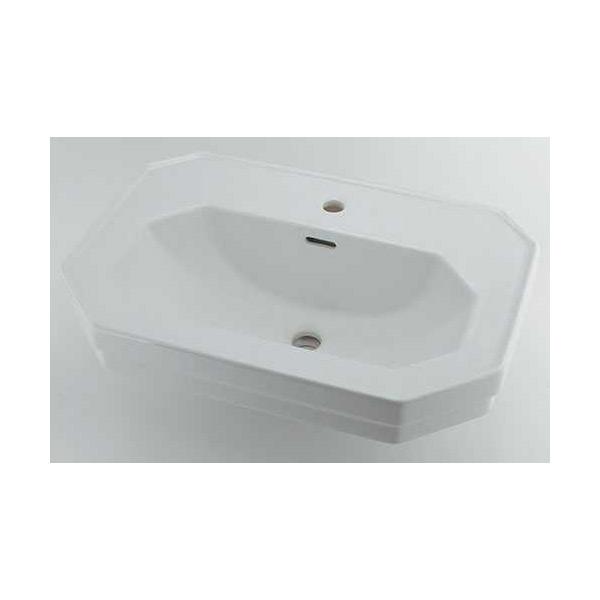 (送料無料(一部地域除く)・代引不可)カクダイ 壁掛洗面器 1ホール #DU-0438700000 (L)