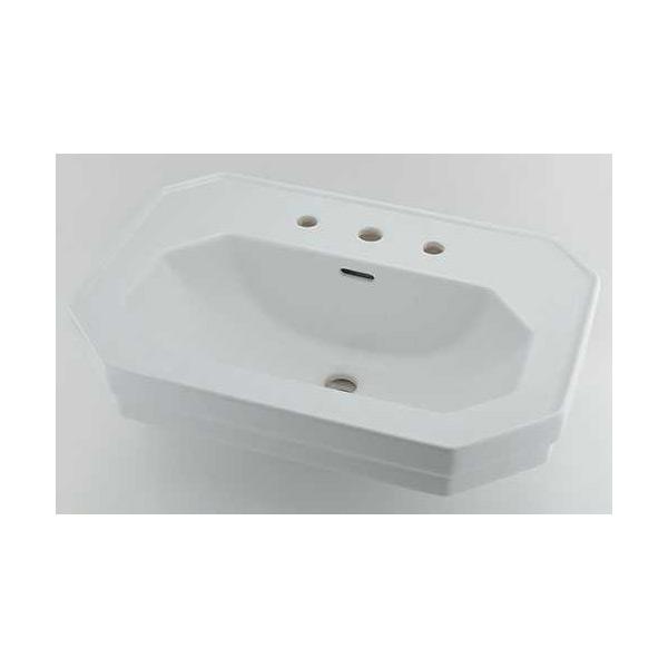 (送料無料(一部地域除く)・代引不可)カクダイ 壁掛洗面器 3ホール #DU-0438700030 (L)