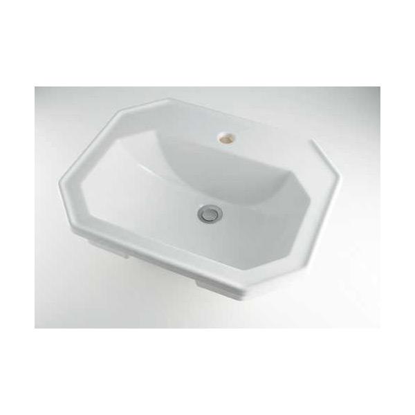 (送料無料(一部地域除く)・代引不可)カクダイ 角型洗面器 1ホール #DU-0476580000 (L)