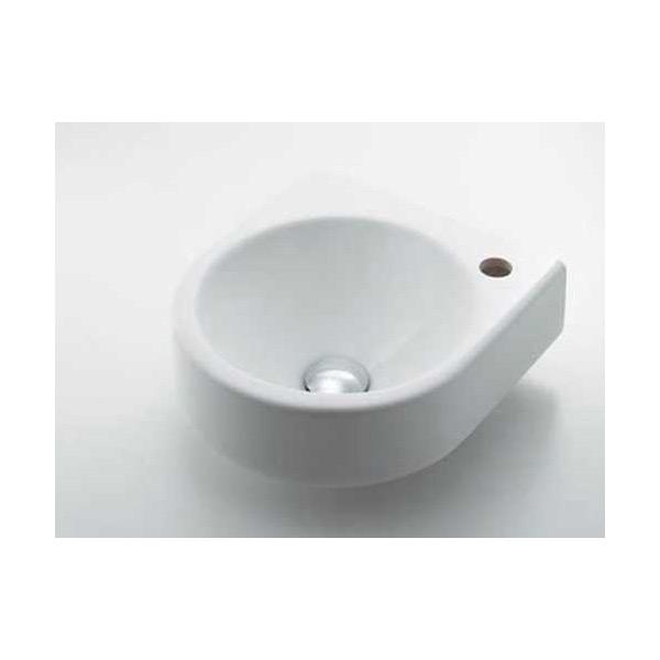 (送料無料(一部地域除く)・代引不可)カクダイ 壁掛手洗器 Rホール #DU-0766350008 (L)