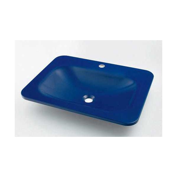 (送料無料(一部地域除く)・代引不可)カクダイ 角型洗面器 ロイヤルブルー #MR-493220B (L)