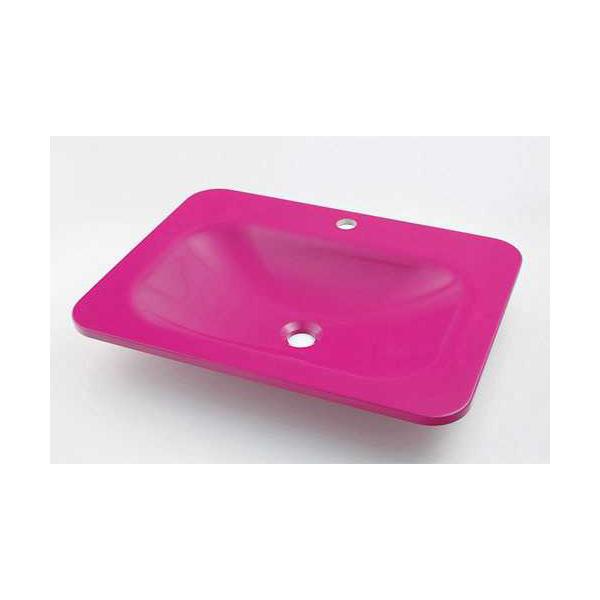 (送料無料(一部地域除く)・代引不可)カクダイ 角型洗面器 パープルピンク #MR-493220P (L)