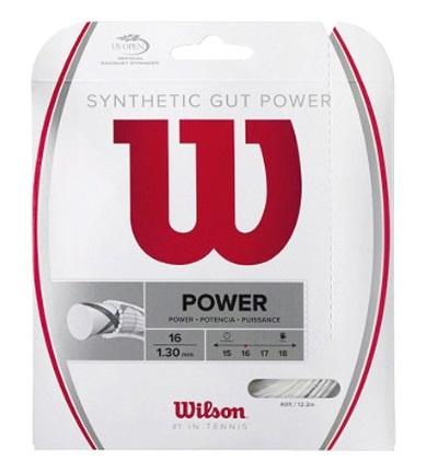 高い耐久性と反発性のあるテニス用ストリング 30%OFF ウィルソン テニスガット アウトレット☆送料無料 シンセティック ガット ご予約品 16 SYNTHETIC POWER パワー16WILSON GUT