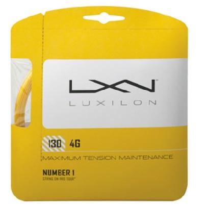 錦織圭 A.ドルゴポロフ ウイリアムズ姉妹 N.アルマグロなど多数使用 LUXIRON ルキシロン 出荷 30%OFFセール WRZ997112 130 新品未使用 4G テニスガット4G