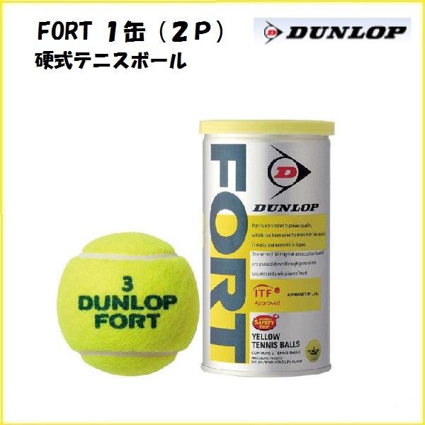 高品質をさらに極めた信頼のロングセラーボール 硬式テニスボール ダンロップ AL完売しました 超特価 FORT 1缶2球入り フォート