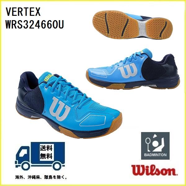 ウィルソン お気に入 バドミントンシューズ 与え WILSON バドミントン シューズ WRS324660U 50%OFF ヴェルテックス ハワイアンサーフ×ネイビーブレザー×アシッドライム VERTEX