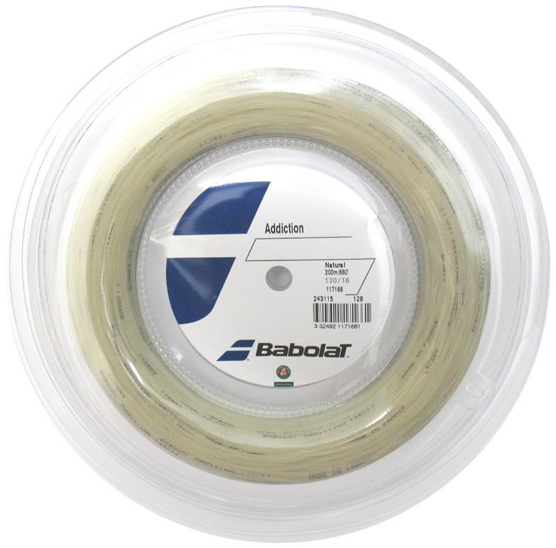 バボラ Babolat 硬式テニス・ストリングスアディクション 130 200mロールガット Addiction 130 BA243115R