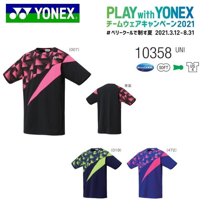 YONEX 完売 TEAM WEAR CAMPAIGN テニス バドミントン 今だけスーパーセール限定 チームウェア ヨネックス ゲームシャツ キャンペーン2021 ユニ 10358テニス バドミントン用 フィットスタイル UNI