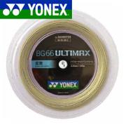 [市場]送料無料 YONEX (ヨネックス) バドミントン・ストリングBG66アルティマックス 200mロール BG66UM-2 30%OFF